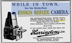 Picture of an advertisement for the Ensign Reflex Camera