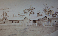 1880 Picture of Camperdown's original Postoffice and Lands & Survey Building