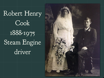 Wedding photo of Robert Henry Cook & Fury Mildred  Baulch